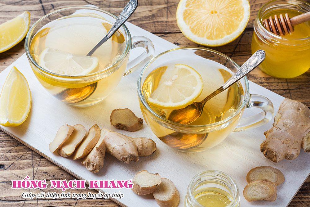 Cách tăng huyết áp với trà gừng